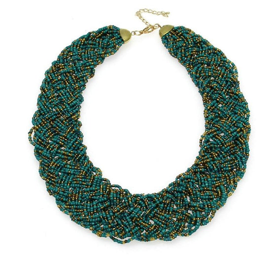 Knitting Multilayer Girl Necklace