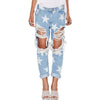 Cute Explosion Star Denim Ripped Jeans - SexyBling
