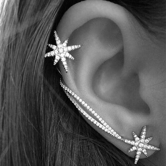 Star Ear Cuff Earrings For Women