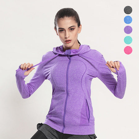 Sexy Long Sleeve Quick Dry Yoga Top