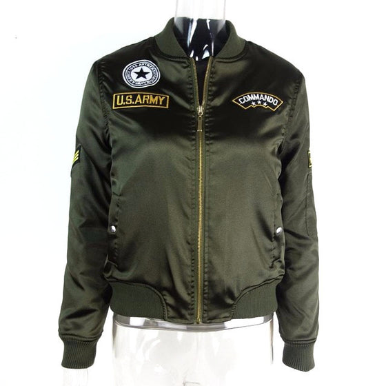 Army Casual Biker Jacket - SexyBling