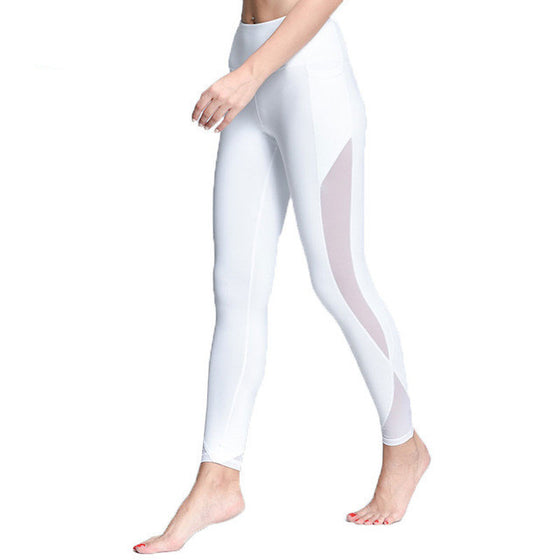 Cute Compression Mesh Yoga Pants - SexyBling