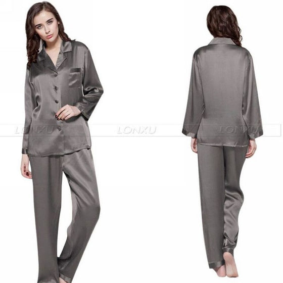 Faux Silk Nightsuit Set