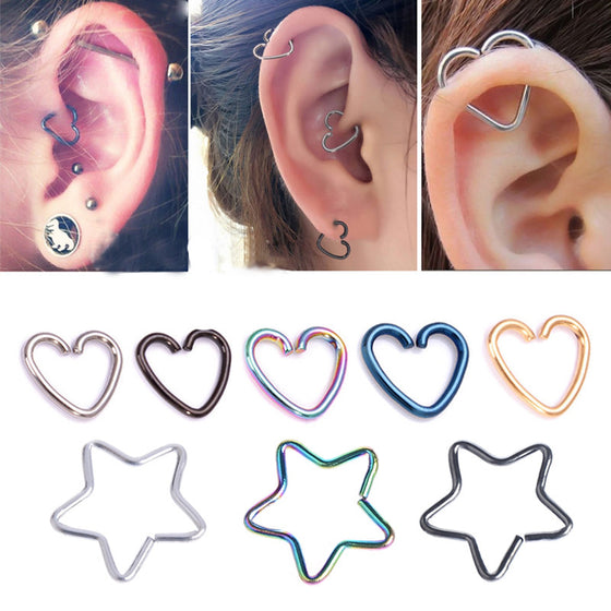 Heart Cartilage Piercing - SexyBling