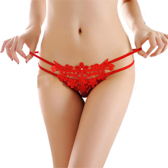 Erotic Diamond Lace Embroided Panties