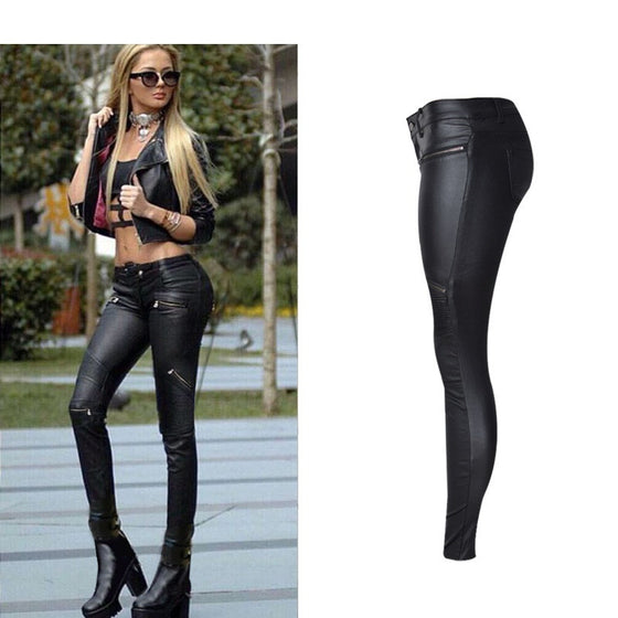 Bold Low Rise Skinny Black Jeans - SexyBling