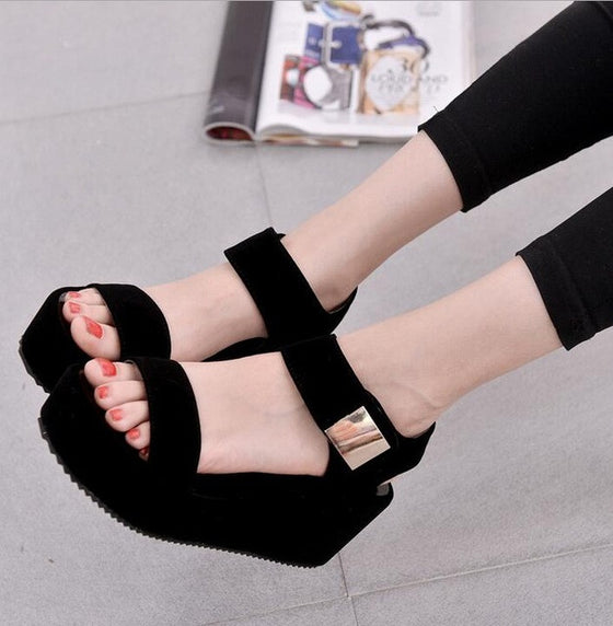 NEW Women Platform Wedge Sandals!