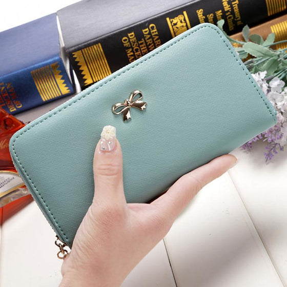 Cute Leather Solid Women Wallet