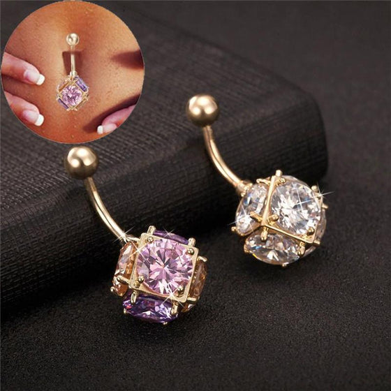 Zirconia Belly Piercing - SexyBling