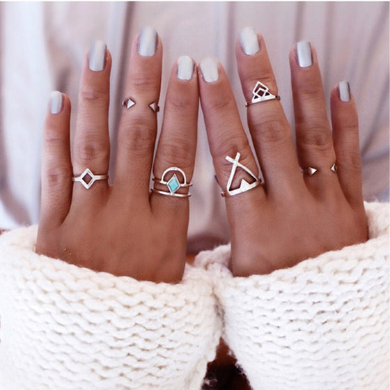 Bohemian Stackable Gem Ring - SexyBling