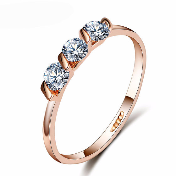 Zircon Crystals Wedding Ring - SexyBling