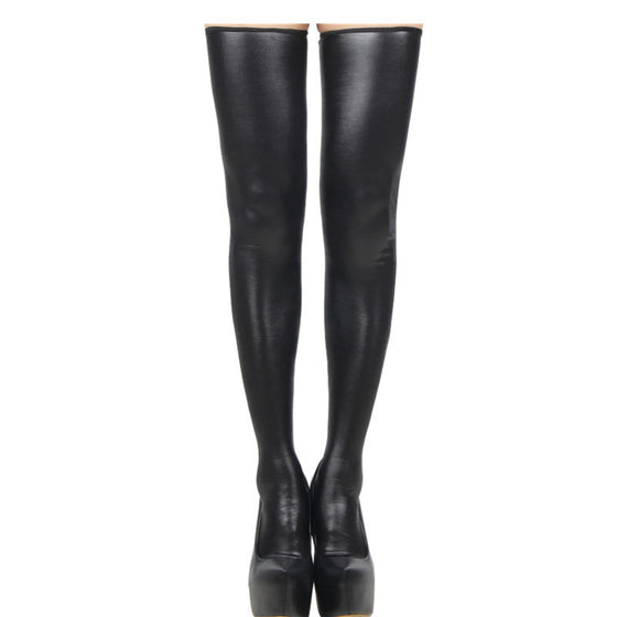Erotic Back Zipper Thigh High Boots - SexyBling