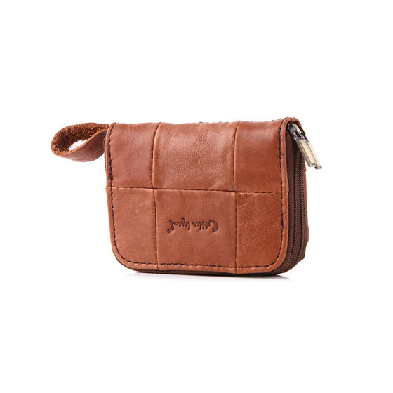 Vintage Slim Genuine Leather Clutch - SexyBling