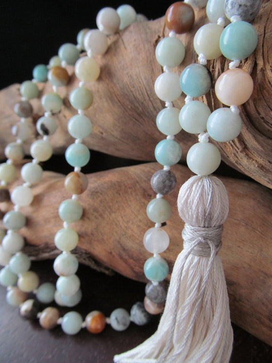 Knotted Tassek Bead Necklace