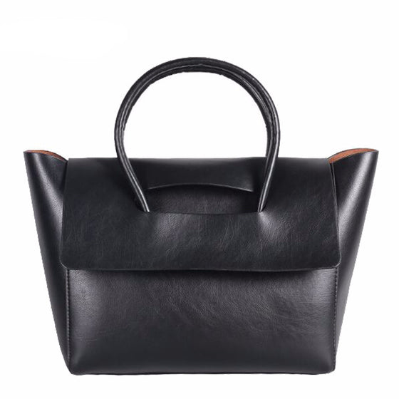 New High Quality Pu Leather  Vintage Trapeze Women Bag - SexyBling