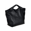 Casual Black Leather Small Handle Purse - SexyBling