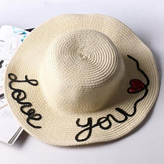 Love You More Beach Hat - SexyBling