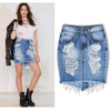 Dominant Midi High Waist Denim Skirt - SexyBling