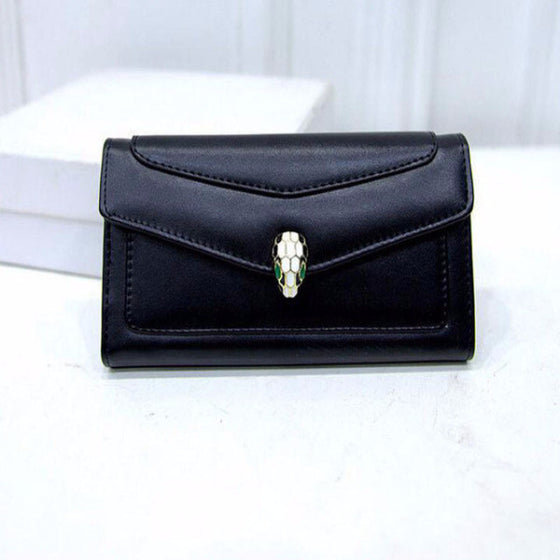 Sexy Snake Head Leather Women Wallet - SexyBling