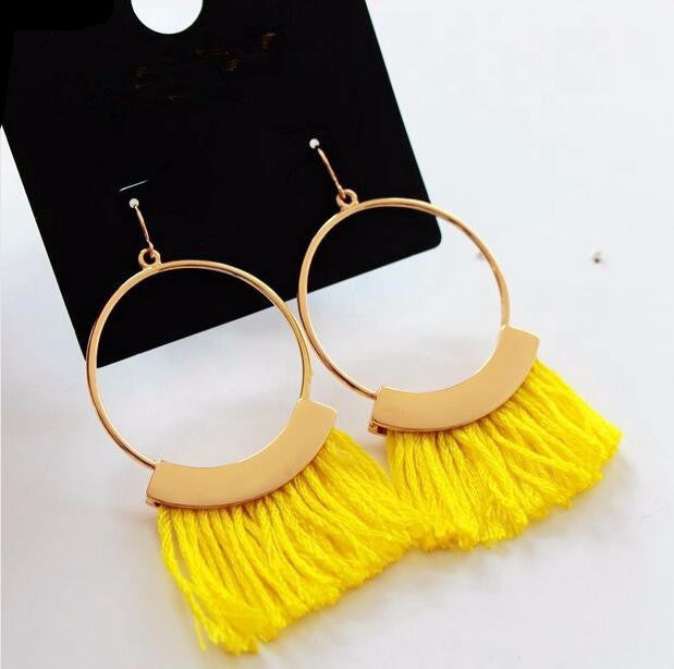 buy ethnic rope tassel earrings online at lowest price sexybling