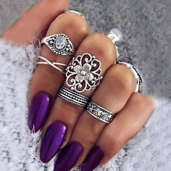 Carved Bohemian Rings - SexyBling