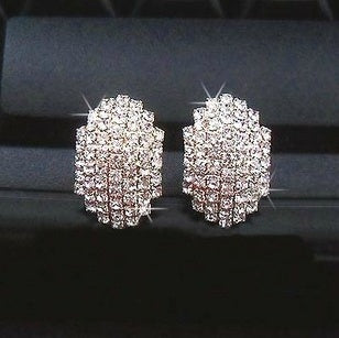 Silver Double Face Cuff Earrings
