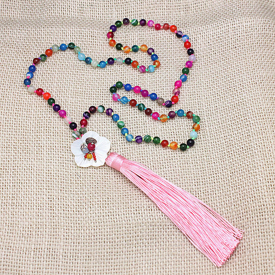 Colorful Onyx Beads Necklace