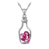 Heart Shaped Crystal Bottle Necklace - SexyBling