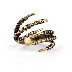 Gothic eagle claw ring