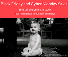 Black Friday and Cyber Monday sales from Smart Bottoms and bumblito