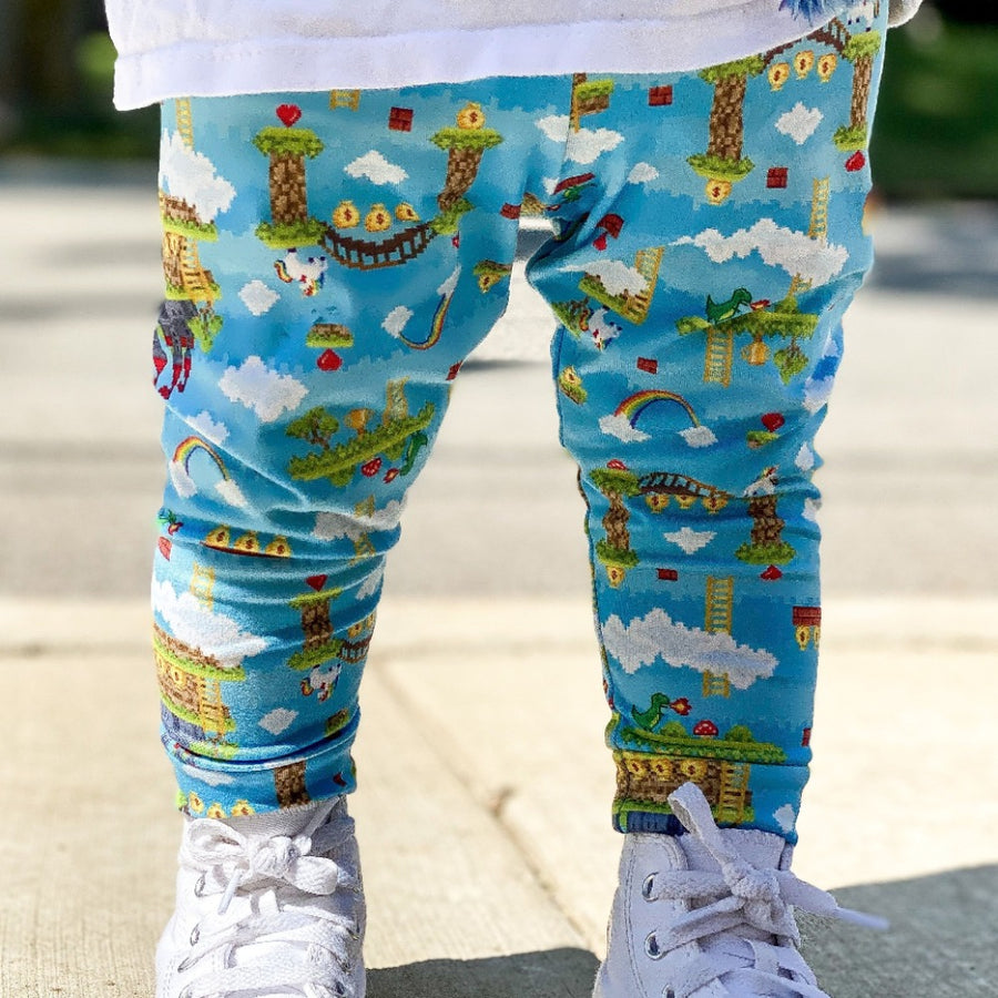 bumblito - children's leggings - gamer - game print