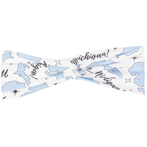 bumblito - adult headband - trendy headband -  Michigan print - state print
