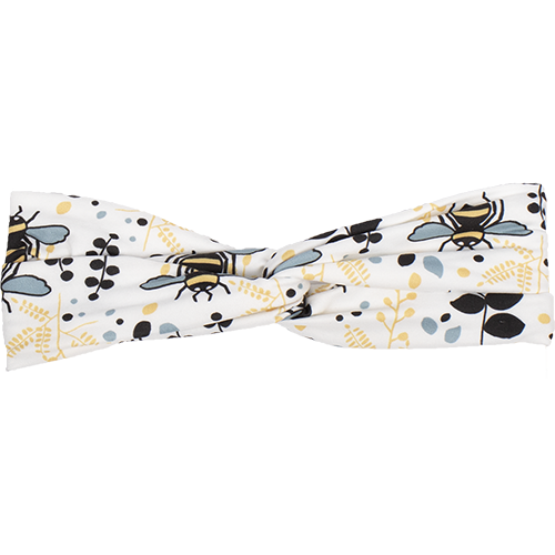 bumblito - adult headband - trendy headband - Rory print - bumble bee print - bee headband