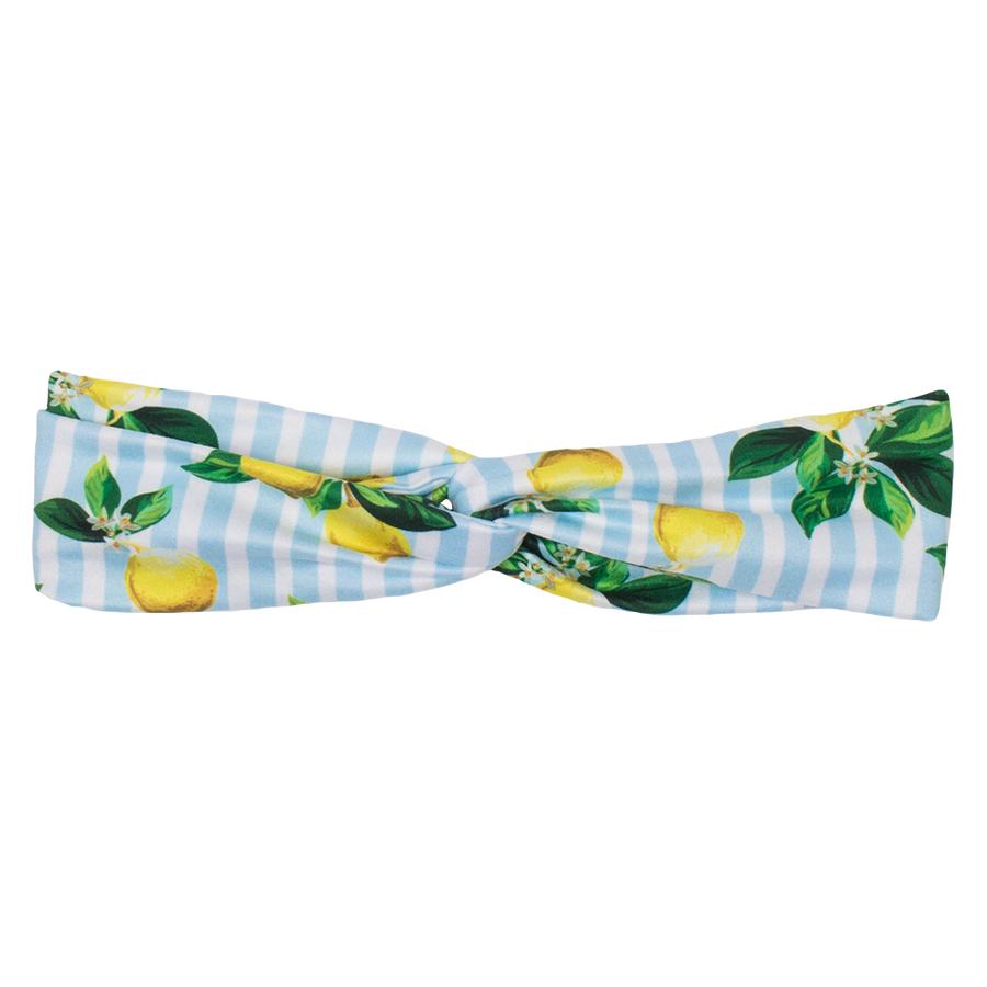 bumblito - adult headband - Lemon Drops adult headband - mommy and me matching lemons and green leaf headband- matching kids and adult headband