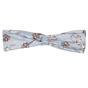 bumblito - adult headband - Ballet Slippers - blue ballerina print