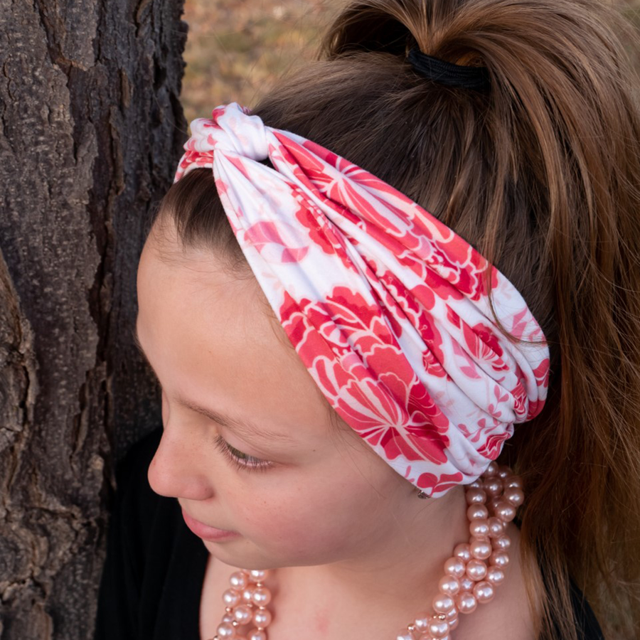 bumblito - Stretchy Adult Headband - Stella floral print - Luxurious adult headband - matching headbands