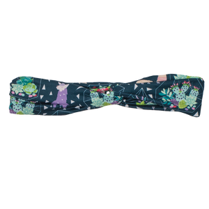 bumblito - adult headband - Tina adult headband - Fun llama print stretchy headband - matching kids and adult headband
