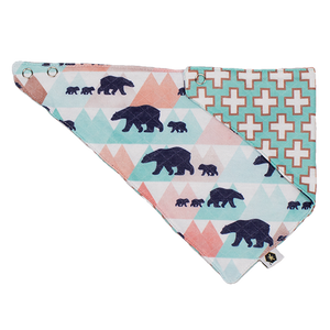 bumblito - bandana bib - 100% cotton children's bib - Little Adventure print - Bear print - Made in the United States