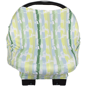 bumblito - Bee Covered multi-use cover - Brush Strokes print - Nursing cover - Car seat cover - multi use cover - made in the United States