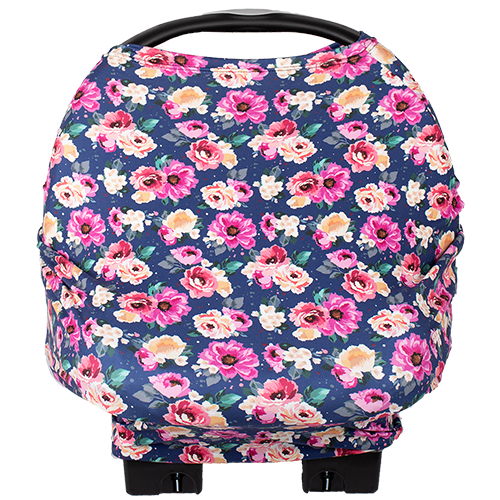 bumblito - Bee Covered multi-use cover - Petit Bouquet print -floral car seat cover - Nursing breastfeeding cover - Car seat cover - multi use cover - made in the United States