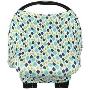 bumblito - Bee Covered multi-use cover - Raindrops print - Nursing breastfeeding cover - Car seat cover - multi use cover - made in the United States