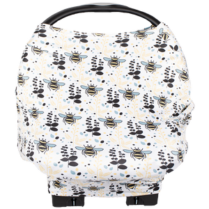 bumblito - Bee Covered multi-use cover - Rory print -Bumble bee print - Nursing breastfeeding cover - Car seat cover - multi use cover - made in the United States