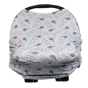 bumblito - bee covered - multi use cover - car seat cover - breast feeding cover - Ballet Slippers Print