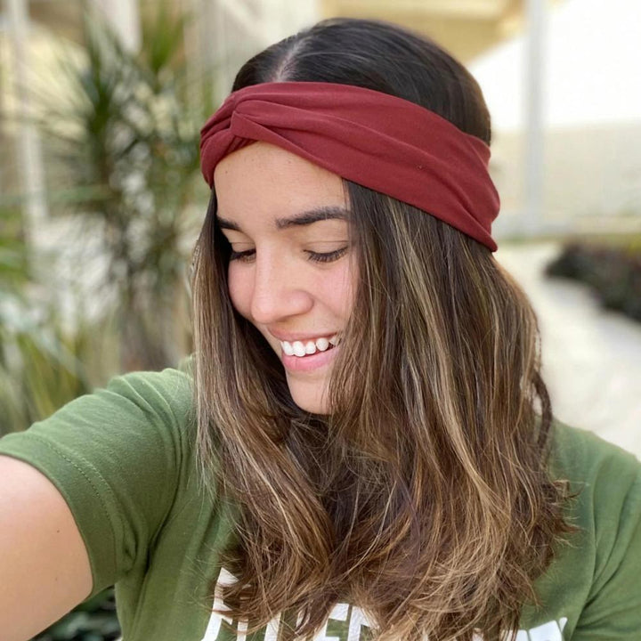 bumblito - adult headband - Burnt Sienna - burnt orange soft and stretchy headband