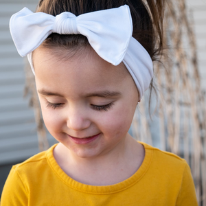 bumblito - Children's headband - Basic headband - white headband - stretchy soft headband