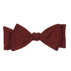 bumblito - Children's Headband - Burnt Sienna - burnt orange stretchy children's bow headband
