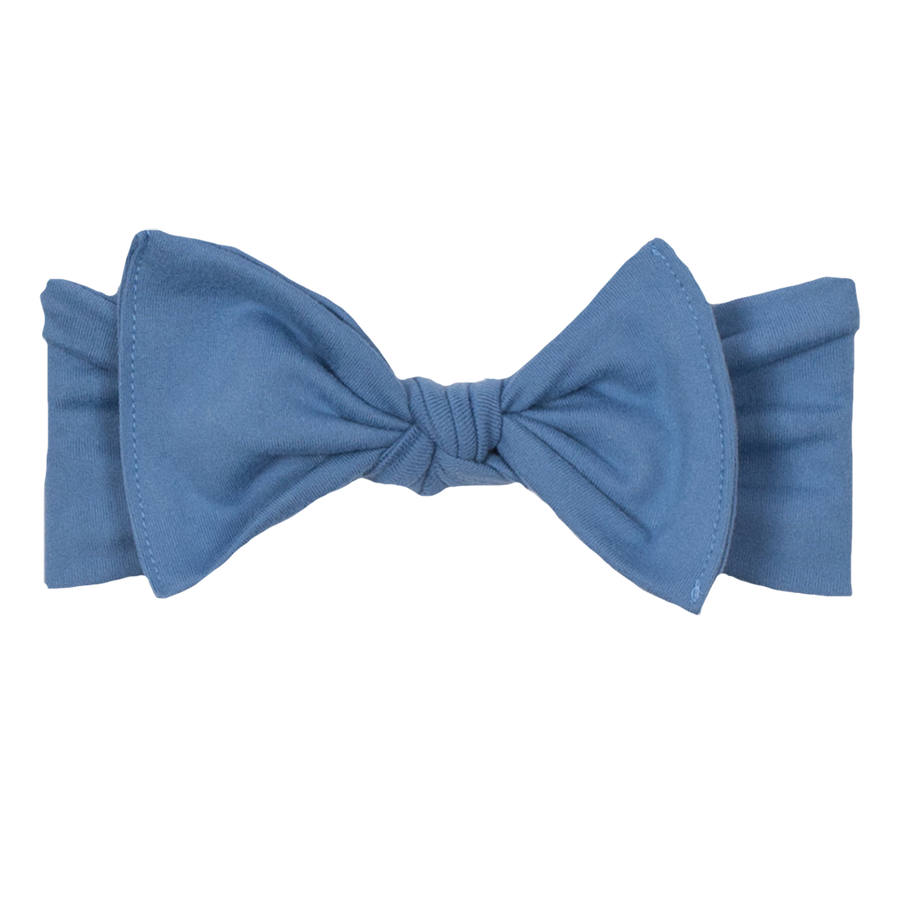 bumblito - children's headband - Chambray - light blue stretchy children's bow headband