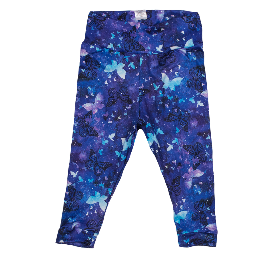 bumblito - baby and toddler leggings - Little Wings - blue butterflies leggings