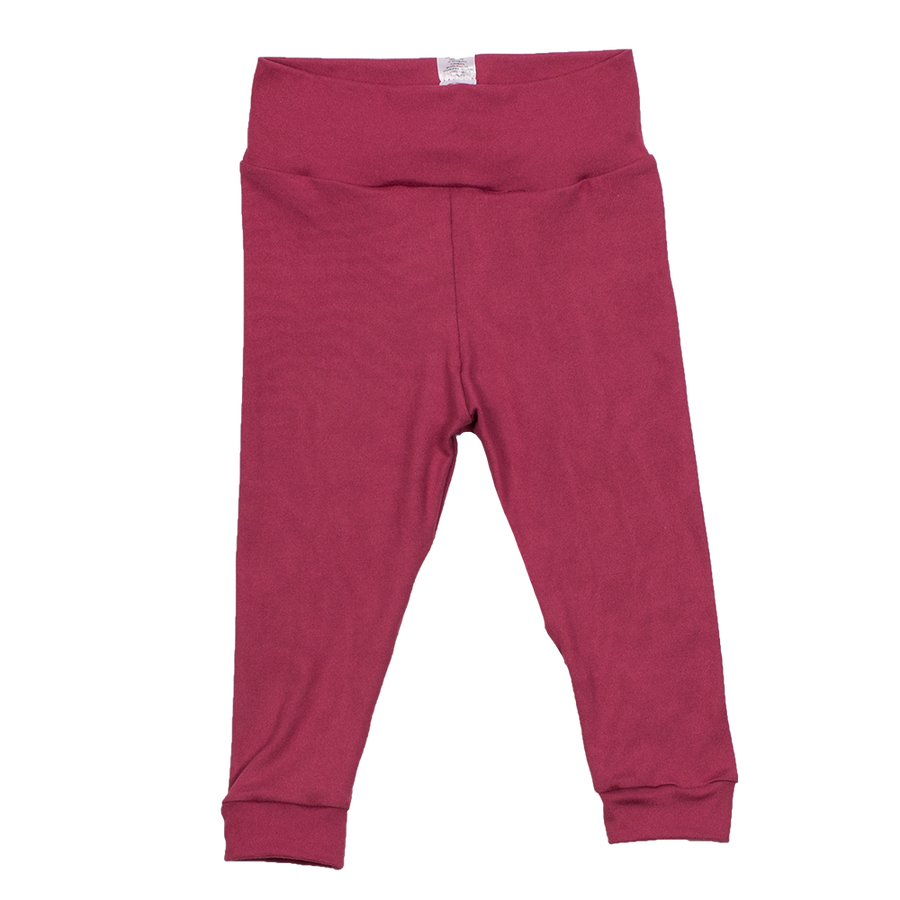 bumblito - baby and toddler leggings - Dusty Rose - soft and stretchy baby and toddler leggings