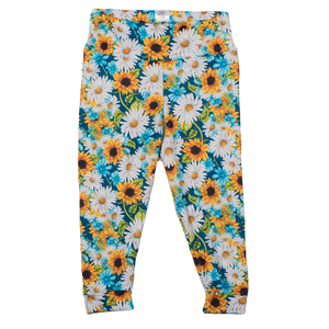 bumblito - toddler leggings - Hello, Sunshine - sunflower print children's leggings